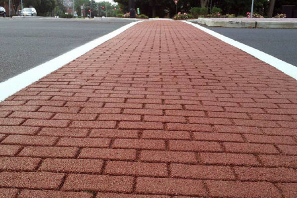 Stamped Cross Walk with PennDOT specified Resin Bound Paving